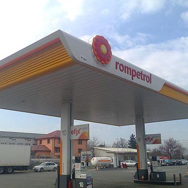 брандиране на бензностанции Ромпетрол
