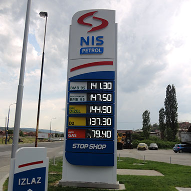 Full branding of PETROL STATIONS Nispetrol