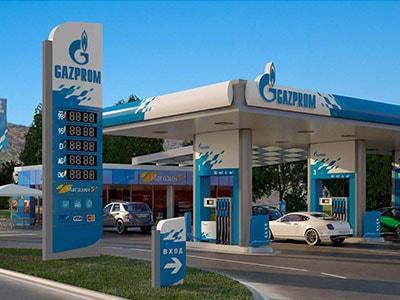 BRANDING  COMPLET А PETROL STATIONS Gazprom